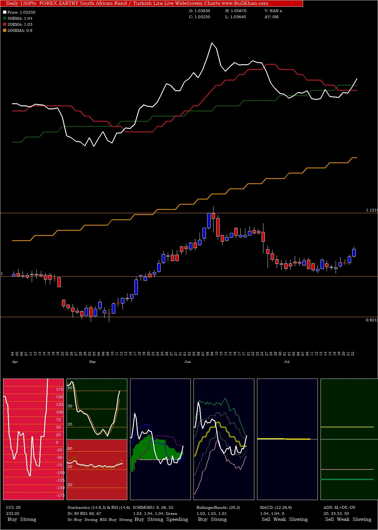 South African charts and indicators