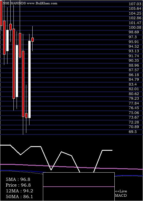 Man Industries monthly charts