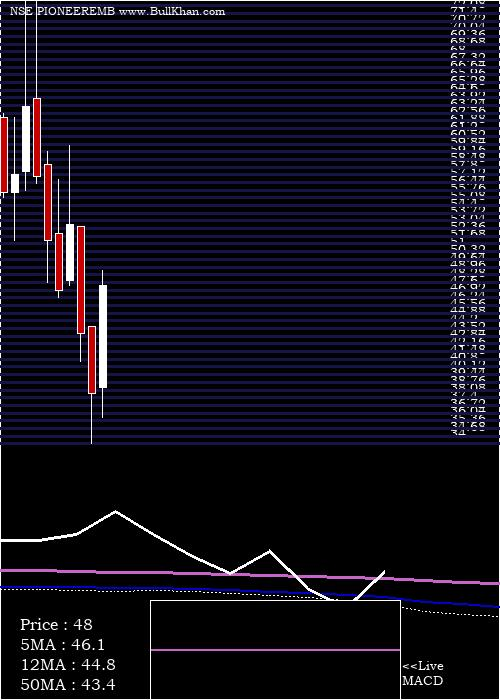 Pioneer Embroideries monthly charts